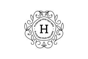 Monogram logo template with