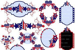 Stars and Stripes Frames AMB-922