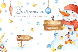 Snowman. Winter collection.