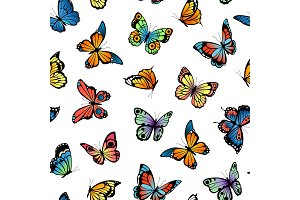 Vector decorative butterflies