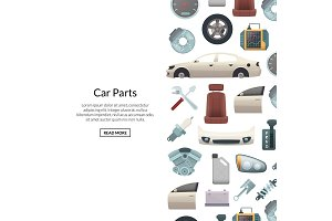 Vector car parts background
