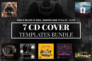 7 CD Cover Templates Bundle vol.2