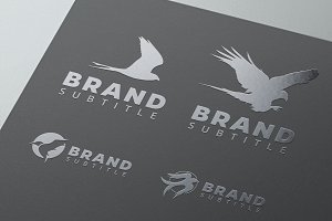 Bird Logo Bundle - Vector & Mock-Up