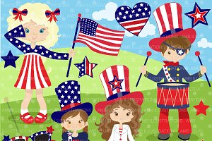 Fourth of July Kids AMB-923