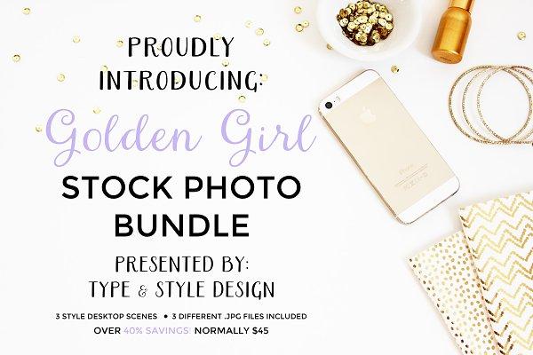Stock Photo Bundle - Golden Girl