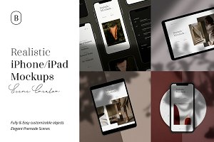 Realistic iPhone & iPad Mockups
