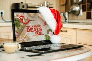 Online shopping concept - computer
