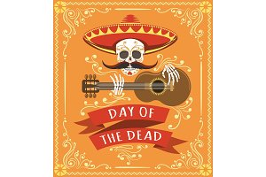 Mexican dead day poster
