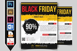 Black Friday Flyer Template Vol-03