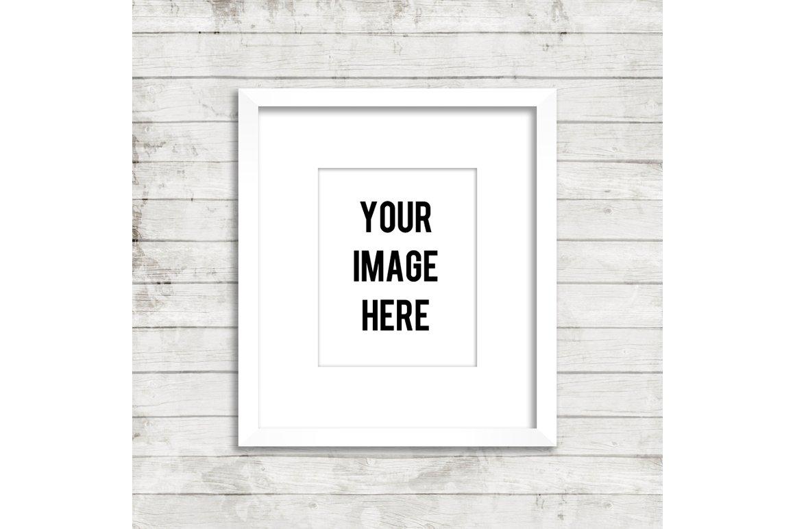 white frame product mockup wood product mockups creative market - White Wood Picture Frames