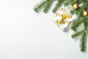 Christmas background Gold present