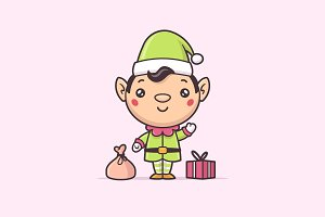 Chrtistmas Elf Kawaii