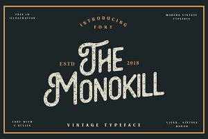 The Monokill - 3 Fonts With Extra