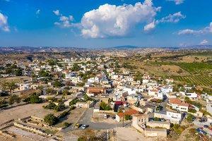 Elevated view of Kouklia village