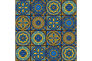 Moroccan ceramic tile seamless