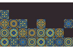 Moroccan ceramic tile background.