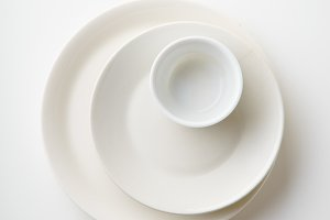 Porcelain plates of various form and