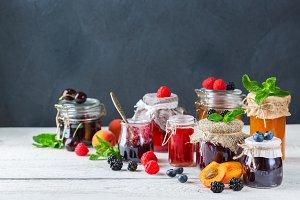 Assortment of seasonal berries and f