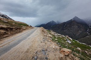 Road in Himalayas, India