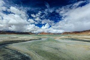 Himalayan lake Tso Kar, Ladakh