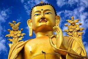 Buddha Maitreya statue in Ladakh