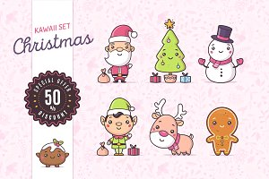 Kawaii Christmas Set