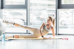 Sportswoman during workout