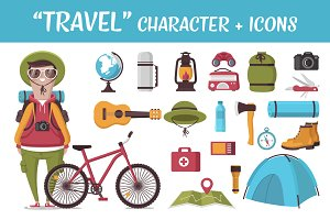TRAVEL: character and icons