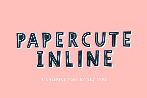 Papercute Inline Font Collection