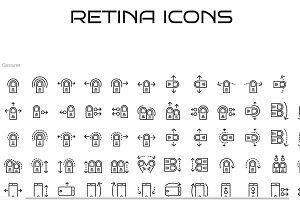 72 Swipe & Gesture Icons