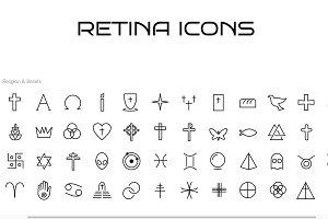 60 Religious Symbols Icons