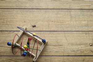 Child's Toy on Wooden Floor