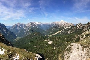 Scenic mountain panorama