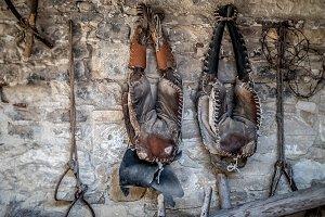 Old worn saddle