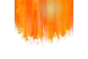 Orange abstract paint splashes