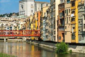 Girona cathedral & Eiffel bridge