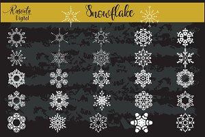 Snowflake Clipart White Color