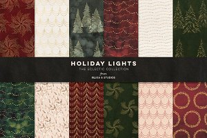 Holiday Lights: Digital Backgrounds