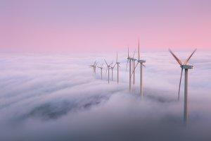 wind turbines in Oiz Mountain