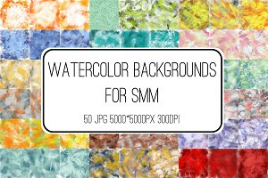 Watercolor backgrounds for SMM