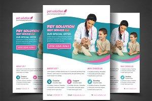 Pet Solution Flyer Print Template