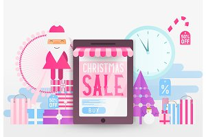 Online Shopping Christmas Sale