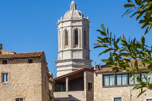 Bell tower of Girona cathedral