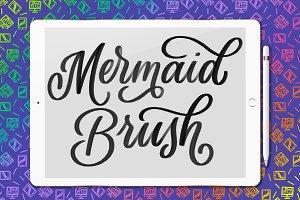Mermaid Procreate lettering brush