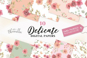 Rose Seamless Patterns Digital Paper