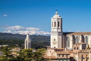 Girona, bell towers & Pyrenees