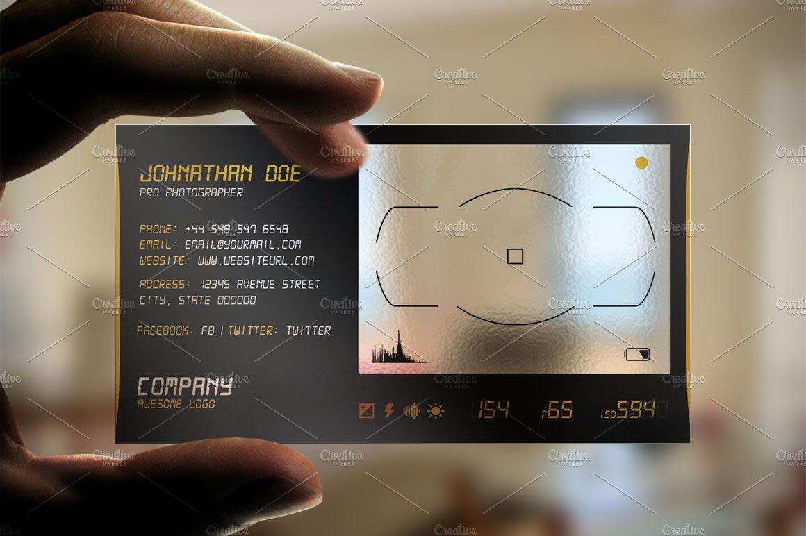 Transparent business card Photos, Graphics, Fonts, Themes, Templates ...