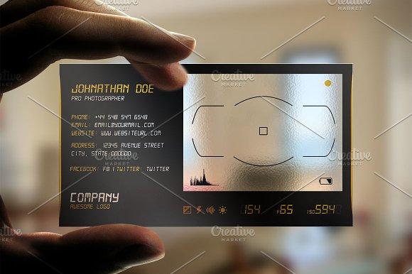 Transparent plastic business card business card templates transparent plastic business card business card templates creative market colourmoves