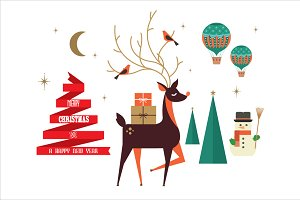 christmas elements/greetings vector