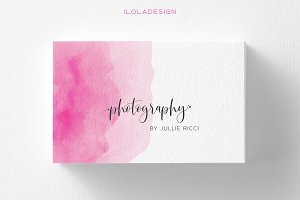 2 Colours~Photographer Business Card